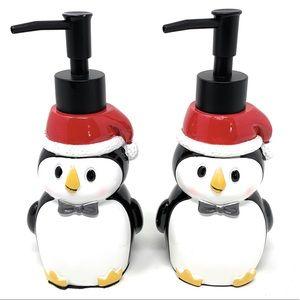 Christmas Penguin Soap Dispenser Set Of 2
